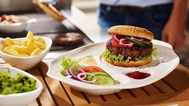 burger assiette ceramique