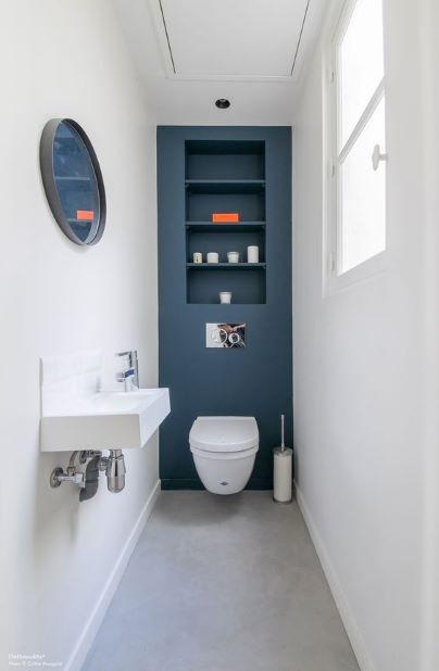 longue et etroite toilettes