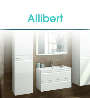 Lavabo blanc et armoire de toilette Allibert