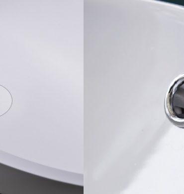 lavabo en résine et en céramique