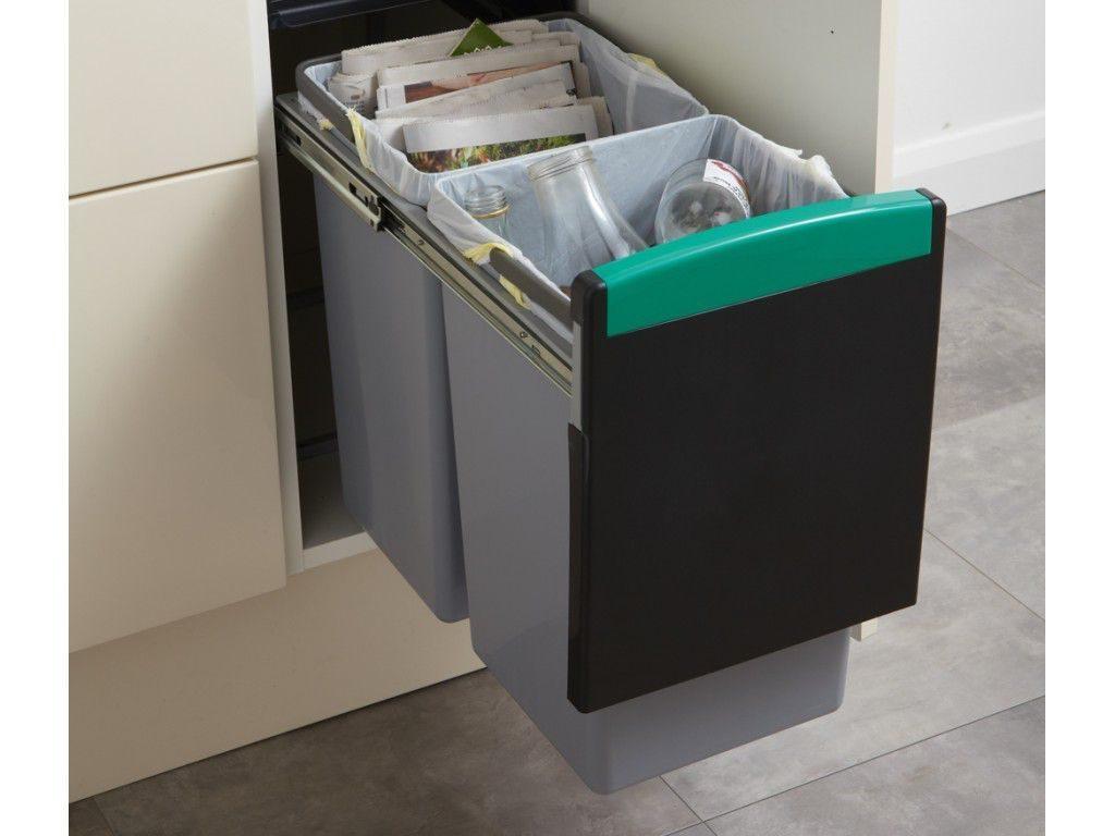 Cuisine poubelle tri selectif tiroir integree dans meuble