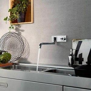 Cuisine robinet mural 180 degres