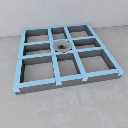 design receveur de douche