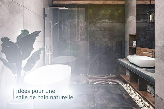 Idée pour une salle de bain naturelle