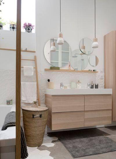 salle de bain ton beige et bois