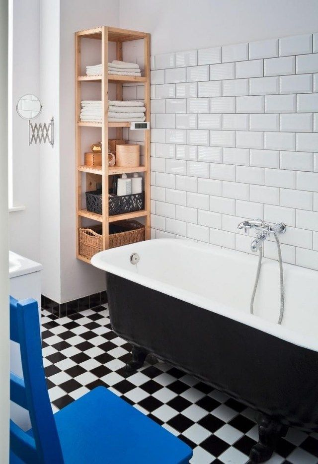 baignoire originale de couleur noire