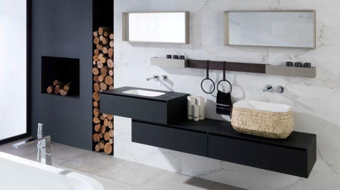 Meubles de salle de bain noirs
