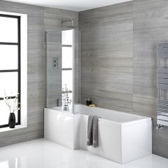 baignoire-douche d'angle