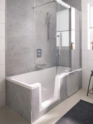 baignoire douche avec porte
