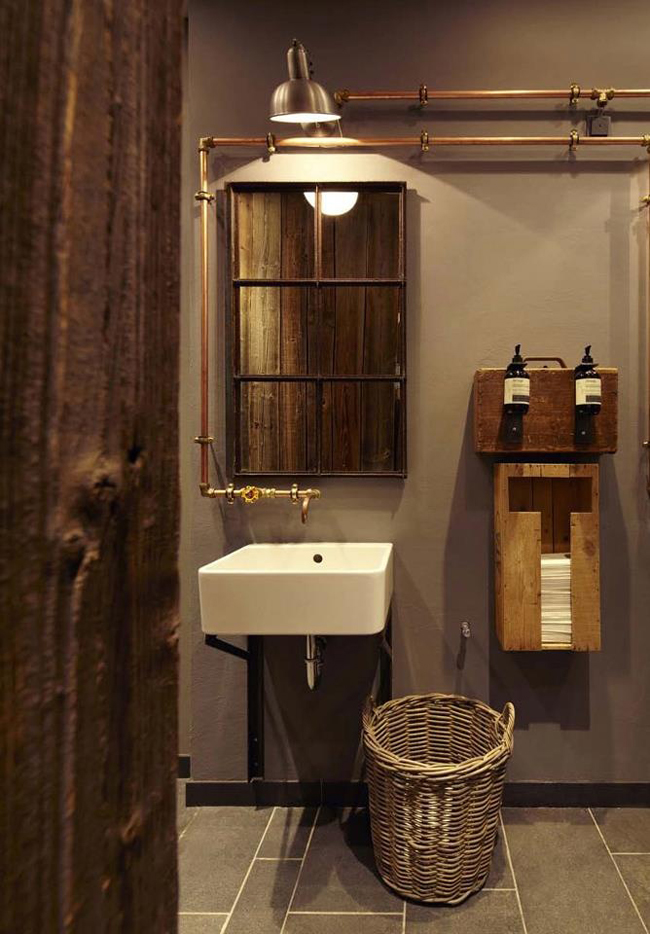 salle de bain style bois