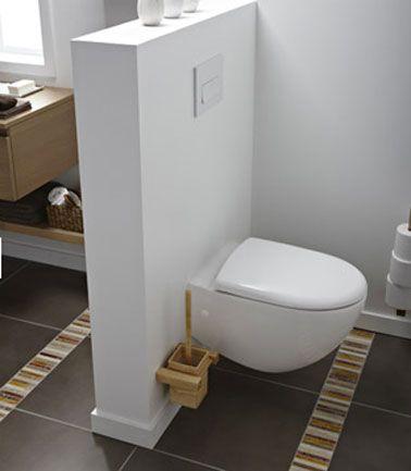 wc suspendu contre mur