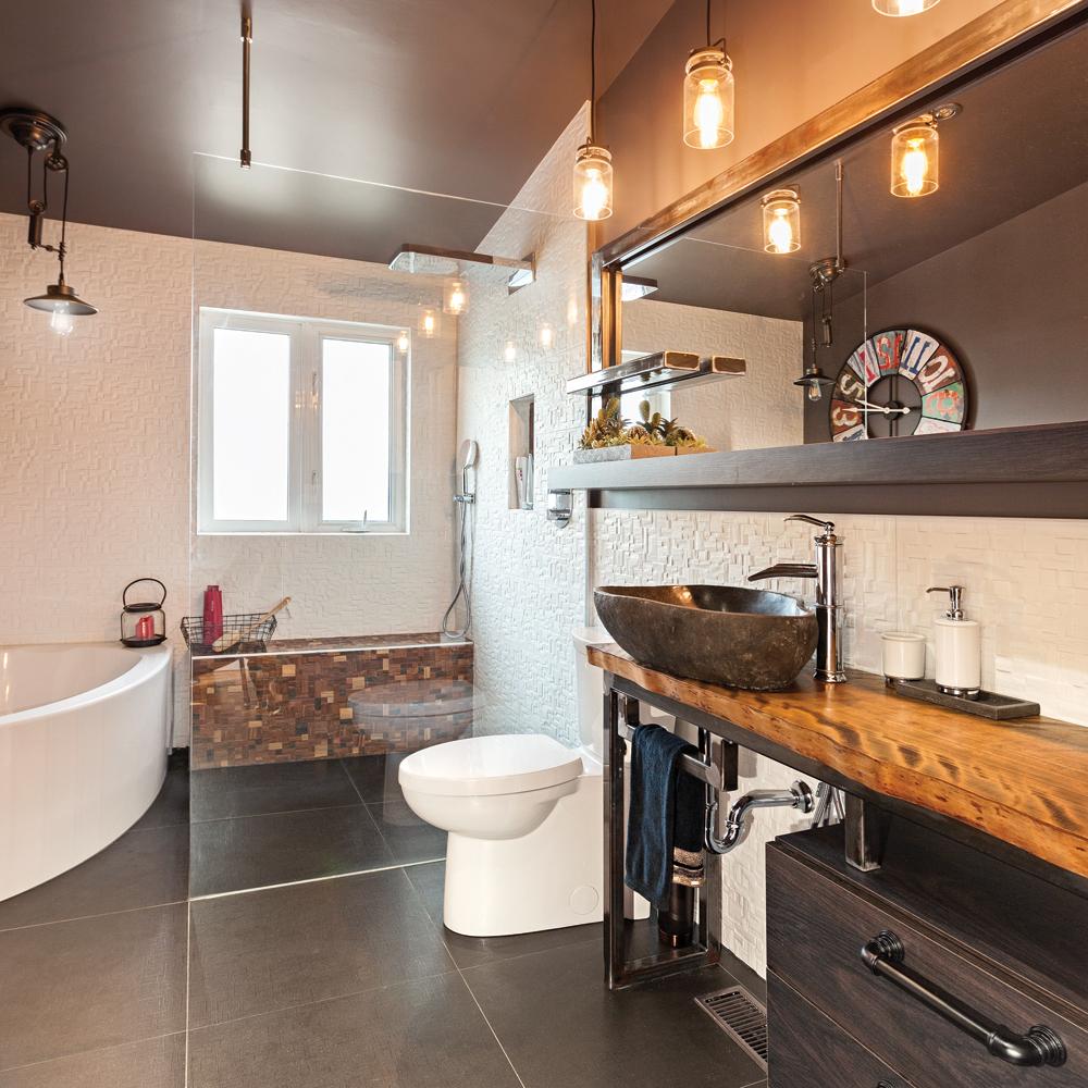 salle de bain style industrielle