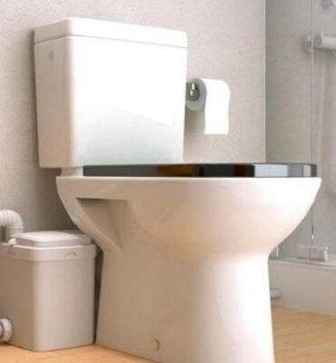 Sanibroyeur avec un WC à poser et son reservoir