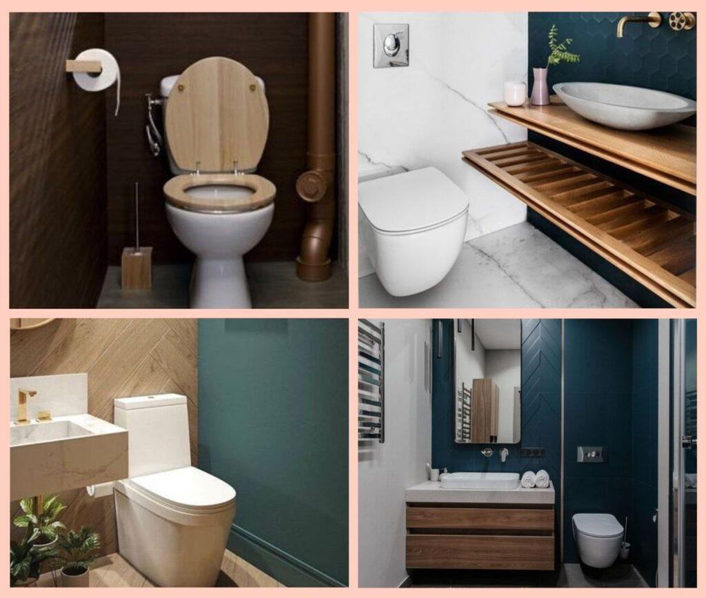 4 photos de toilettes