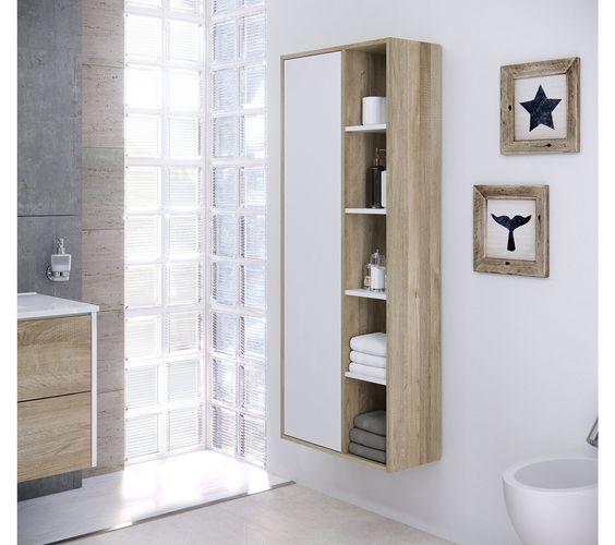 colonne de rangement de salle de bain