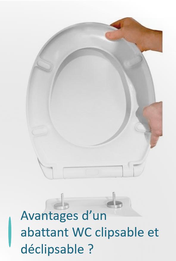 abattant wc clipsable