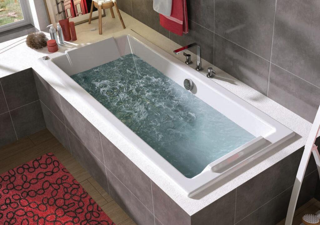 baignoire balneo allibert rectangulaire remplie
