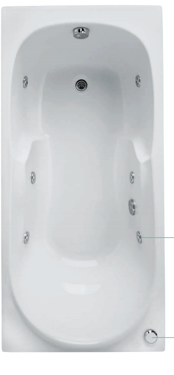 baignoire balnéo Allibert ovale sans eau