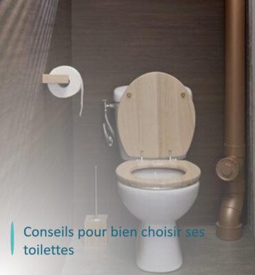 wc avec cuvette en bois