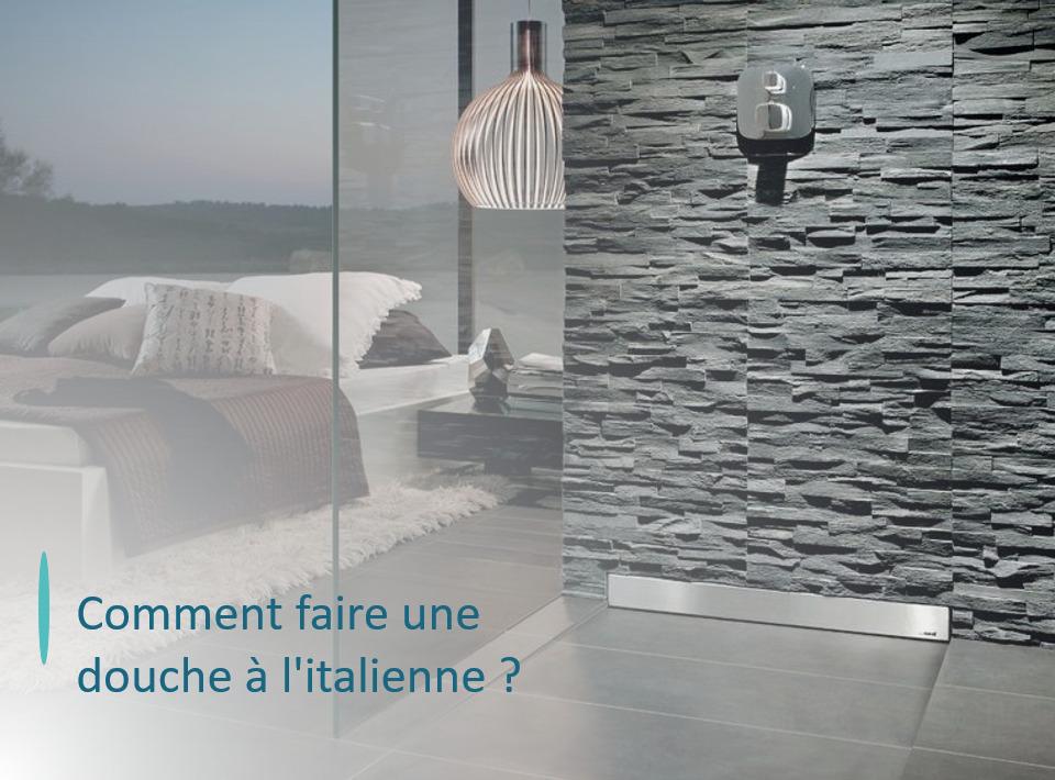 douche italienne en pierre