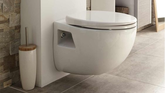 sanibroyeur blanc sur wc suspendu