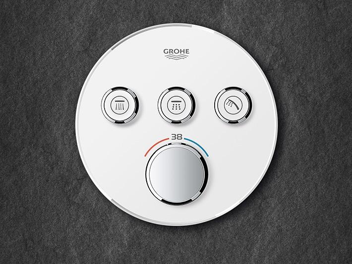 mitigeurs thermostatiques Grohe Grohtherm SmartControl encastré 3 voies rond