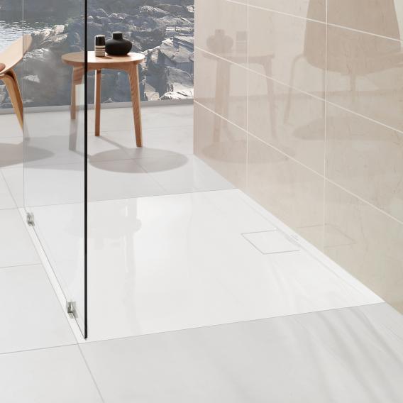 Receveur de douche blanc carré