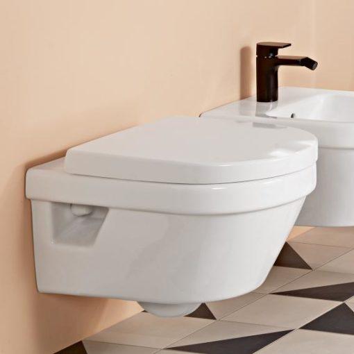 WC suspendu avec bidet villeroy et boch