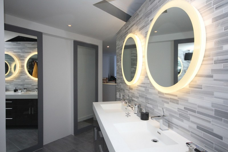 miroirs ronds lumineux