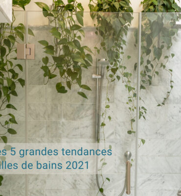 Les 5 grandes tendances salles de bains en 2021