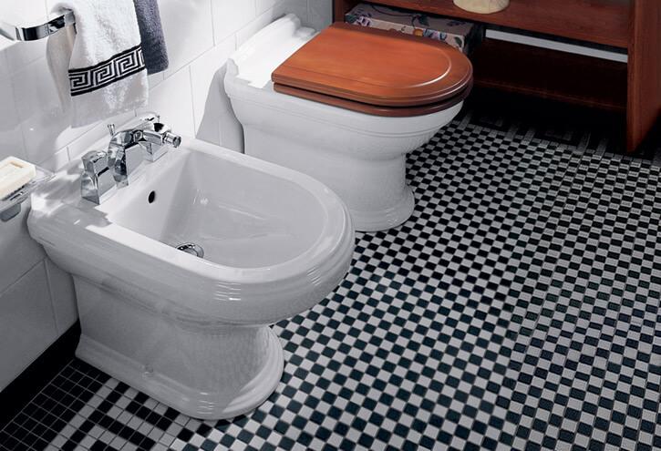 bidet et toilette a poser Villeroy et boch