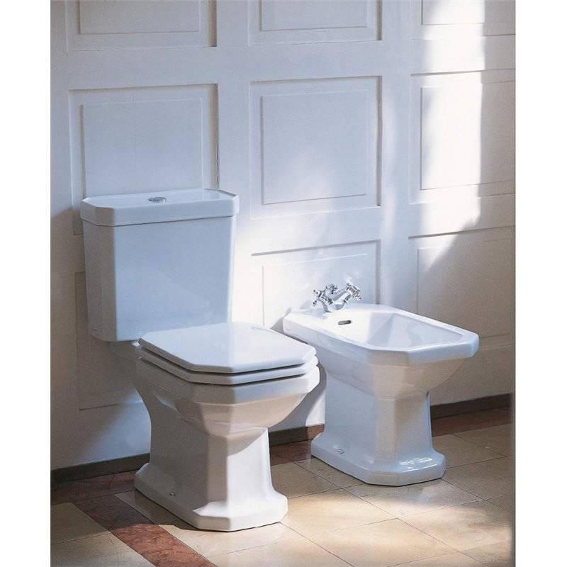 toilette et bidet blanc