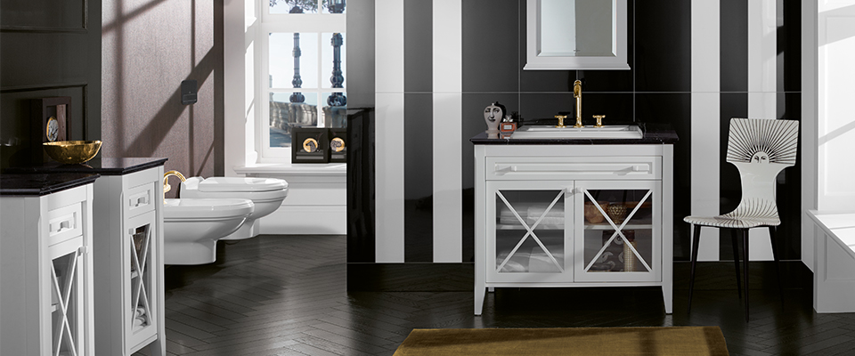 salle de bain de la série hommage de villeroy et boch