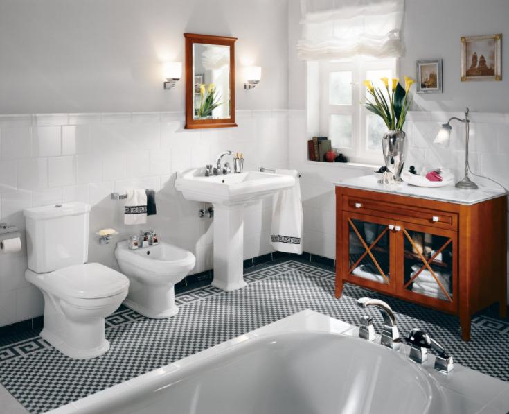 salle de bain de la série Hommage avec wc et bidet