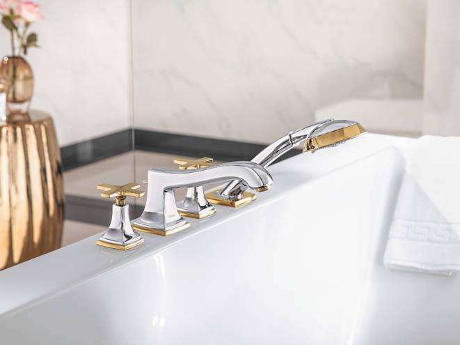 robinet 4 trous de baignoire