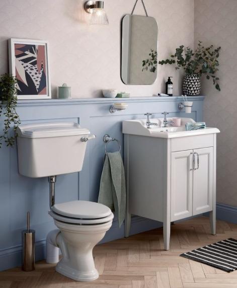 toilette a poser avec réservoir