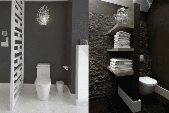2 salles de bain sombres