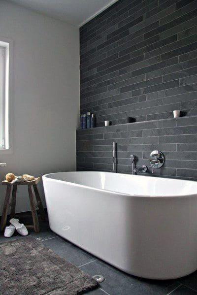 Baignoire ilot contre mur