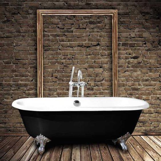 baignoire sabot blanche et noire