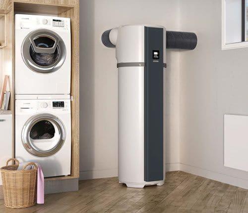 buanderie machine a laver et chauffe eau