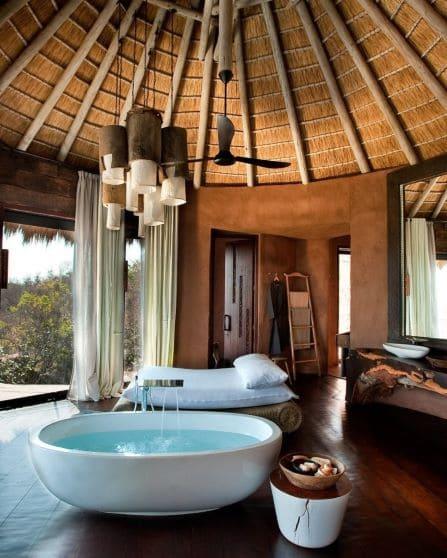 Salle de Bain dans hutte de luxe