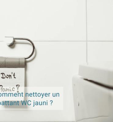 Nettoyer abattant WC jauni