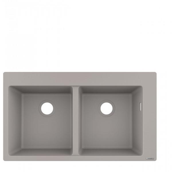 Evier Encastrable 370 x 370 mm S510-F770 Hansgrohe Gris Béton (43316380)