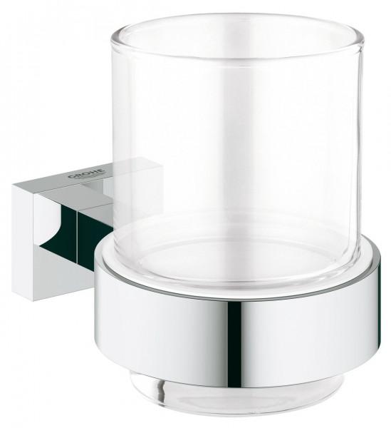 Porte Brosse à Dent Grohe Essentials Cube Verre avec support
