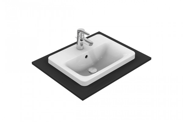 Vasque à Encastrer Ideal Standard Connect rectangulaire 500mm Céramique Ideal + E5043MA