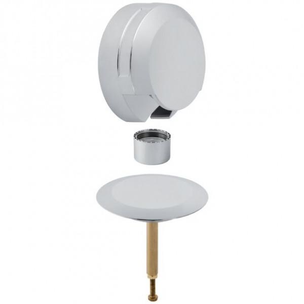Vidage Baignoire Geberit Kit de finition Diamètre52 commande rotative Chromé/Brillant 150425211